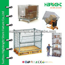 steel pallet mesh storage container